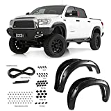 08 tundra fender flare - EZ AUTO For 07-13 Toyota Tundra (Mud Flaps Must Be Removed If Equipped) (Fleetside Models ONLY) | Textured Matte Black Pocket Bolt-Riveted Style Fender Flare Set, 4 Pcs
