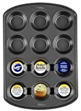 Wilton 2105-6789 Perfect Results Nonstick 12-Cup Muffin Pan