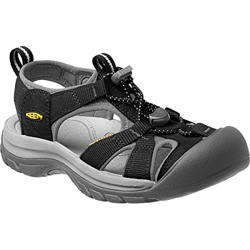 KEEN Women's Venice H2 Sandal,Black/Neutral Gray,8 M US (Keen Water Hiking Shoes)