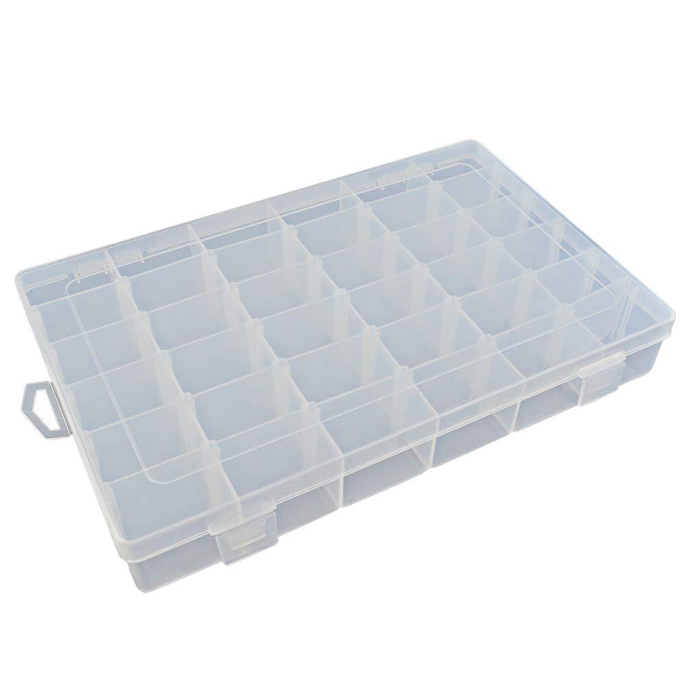Bantoye 36 Grids Clear Plastic