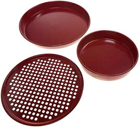 Curtis Stone Dura-Bake 3-piece Pizza Pan Set (Certified Refurbished)