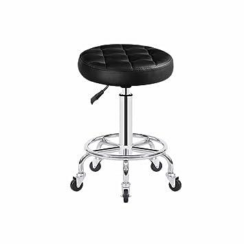 KuJZu Taburetes de la belleza, silla de trabajo de la polea Taburete giratorio taburete cosmético