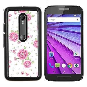 - Summer Sun Roses Floral Wallpaper/ Duro Snap en el tel??fono celular de la cubierta - Cao - For Motorola Moto G (3rd Gen 2015)