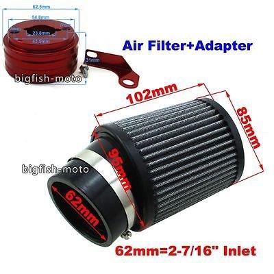 FidgetFidget Air Filter Adapter for 6.5 HP GX160 GX200 Go Kart Predator 212cc Cart Mini Bike