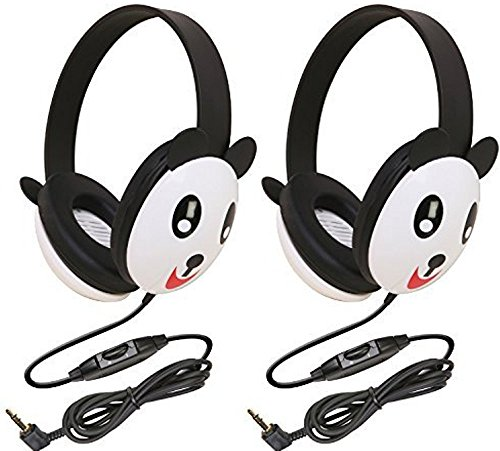 Califone 2810-PA Listening First Stereo Headphone, Panda Motif - Pack of 2
