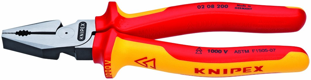 Knipex 0208200US 8-Inch High Leverage Combination Pliers - 1,000 Volt by KNIPEX Tools