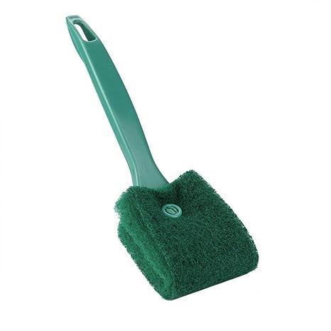 Limpiador de algas de cristal para acuario o pecera, cepillo de limpieza de doble cara