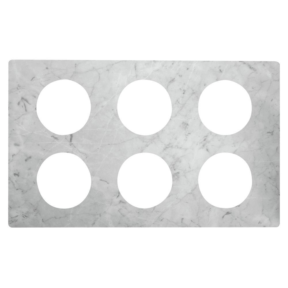 Cold Bar Tiles with Bain Marie Cut Outs Marble Melamine - 21''L x 12 3/4''W