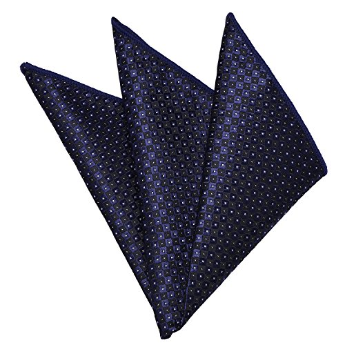 t Square - Handkerchiefs Fashionable Accessories for Custome Handmade Hanky by YAKEE LEMON (Black/navy plaid) ()