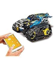MoFun 2.4GHz RC Building Blocks Car DIY Building Kit Car Toy RC Tank RC Stunt Car APP Control Gravity Sensor