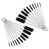 Nylon Tube Brush Set Nylon Cleaning Brushes 20 Pieces for Drinking Straws Glasses Keyboards Jewelry Cleaning,Antistatic Brushes,Beaker Cleaning Brushes