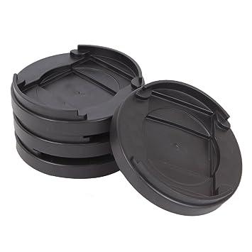 0,4 pulgadas Ronda de la cama tapón O muebles tope antideslizante plástico tazas de ruedas para suelos duros: Amazon.es: Bricolaje y herramientas