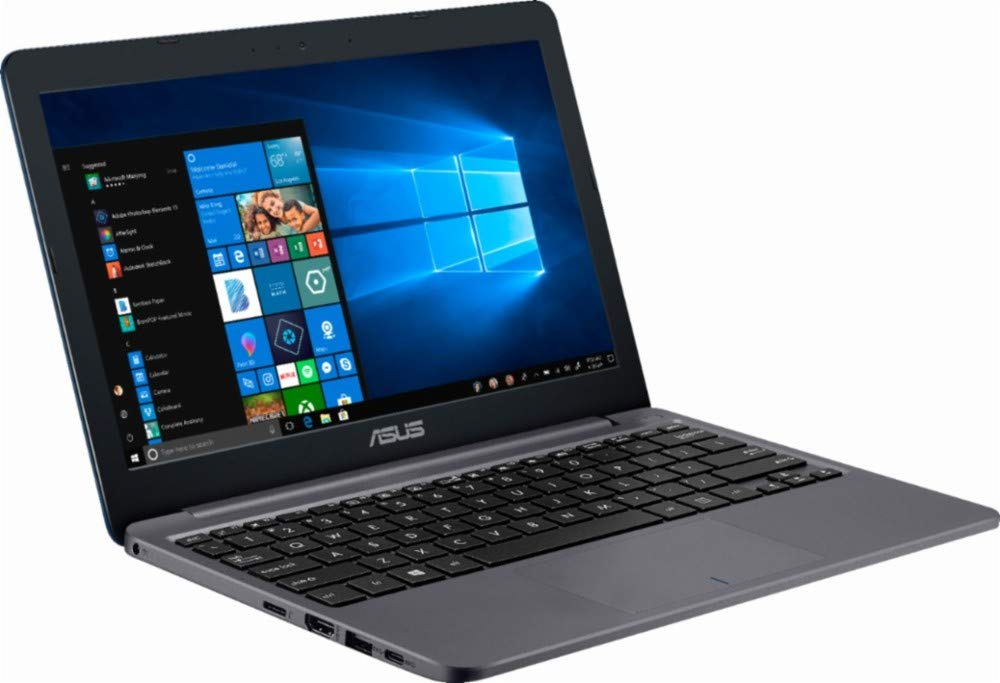 "2018 ASUS Laptop - 11.6"" 1366 x 768 HD Resolution - Intel Celeron N4000 - 2GB Memory - 32GB eMMC Flash Memory - Windows 10 - Star Gray 1"
