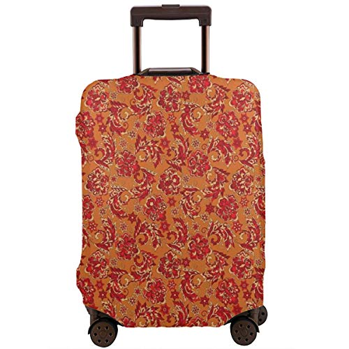 Travel Luggage Cover,Nostalgic Western European Medieval Renaissance Inspired Eastern Bohemian Suitcase Protector