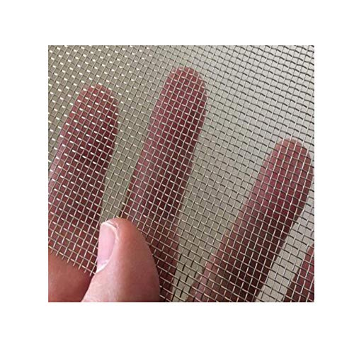 TORIS 2 Piece Stainless Steel Woven Wire Mesh SS304 Rodent Mesh Insect Mesh Pest Contol Mesh Window Screen Door Mesh (5.9X8.2(150X210mm), Stainless Steel)