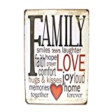 12x8 Inches Pub,bar,home Wall Decor Souvenir Hanging Metal Tin Sign Plate Plaque (FAMILY)