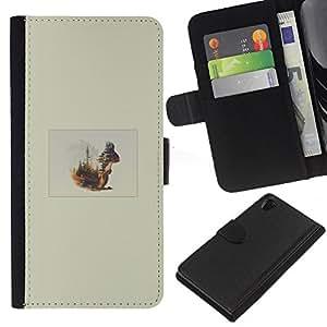 Protector de cuero de la PU de la cubierta del estilo de la carpeta del tirón BY RAYDREAMMM - Sony Xperia Z2 D6502 - Ardilla Forrest