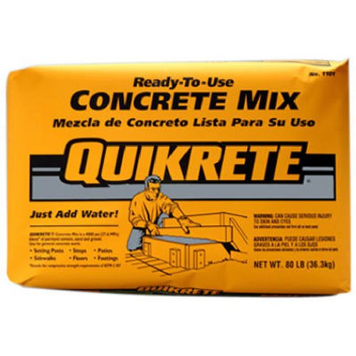 QUIKRETE Products : Quickrete 110180 80LB Concrete Mix