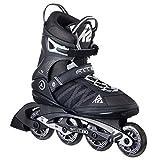 K2 Skate Men's F.I.T 80 Inline Skates, Black/Silver, 8