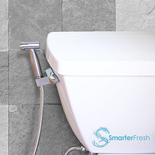 SmarterFresh Hand Held Bidet Sprayer, Premium Stainless Steel Diaper Sprayer Shattaf - Complete Bidet Set for Toilet, Hand Bidet Sprayer for Beday Toilet