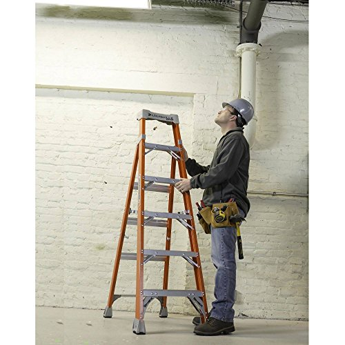 Fiberglass Heavy Duty Slip Resistant Rubber Tread Ladder by Louisville Ladder (Image #8)