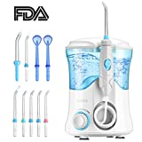 Water Flosser, ELLESYE 600ml Oral Irrigator with 9 Multifunctional Jet Tips, Leak-Proof Dental Water Flosser for Braces Care & Teeth Cleaning, Quiet Design Family Dental Flosser for Adults & Kids Use