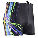 Panegy Men's Splice Jammer Compression Square Leg Swimsuit Solid Briefs