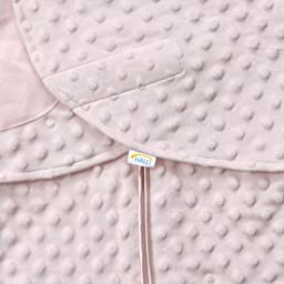 HALO SleepSack Plush Dot Velboa Swaddle, Pink, Newborn
