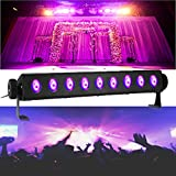 SOLMORE UV Black Light Bar 27W 9LEDs Flood Light DJ Blacklight for Glow Party Stage Club Disco Show AC100-240V (with Remote)