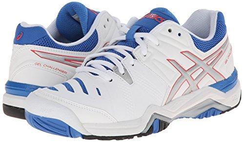 ASICS Women's Gel-Challenger 10 Tennis Shoe, White/Silver/Powder Blue,6 M US by ASICS (Image #6)
