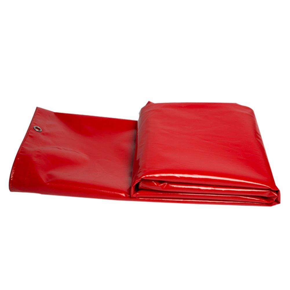 DYFYMXOutdoor Ausrüstung Rote Wasserdichte Plane, LKW-schützendes Tuch, Sonnenschutz im Freien und staubdichte Plane, hohe Temperatur und Antialtern,