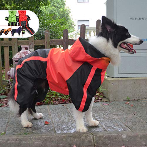 Lovelonglong Border Collie Dog Hooded Raincoat, Collie
