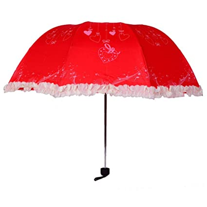 Red Chinese Anti Uv Parasol Sunscreen Lace Cute Women Umbrella High Quality Designer Paraguas Encaje Unique
