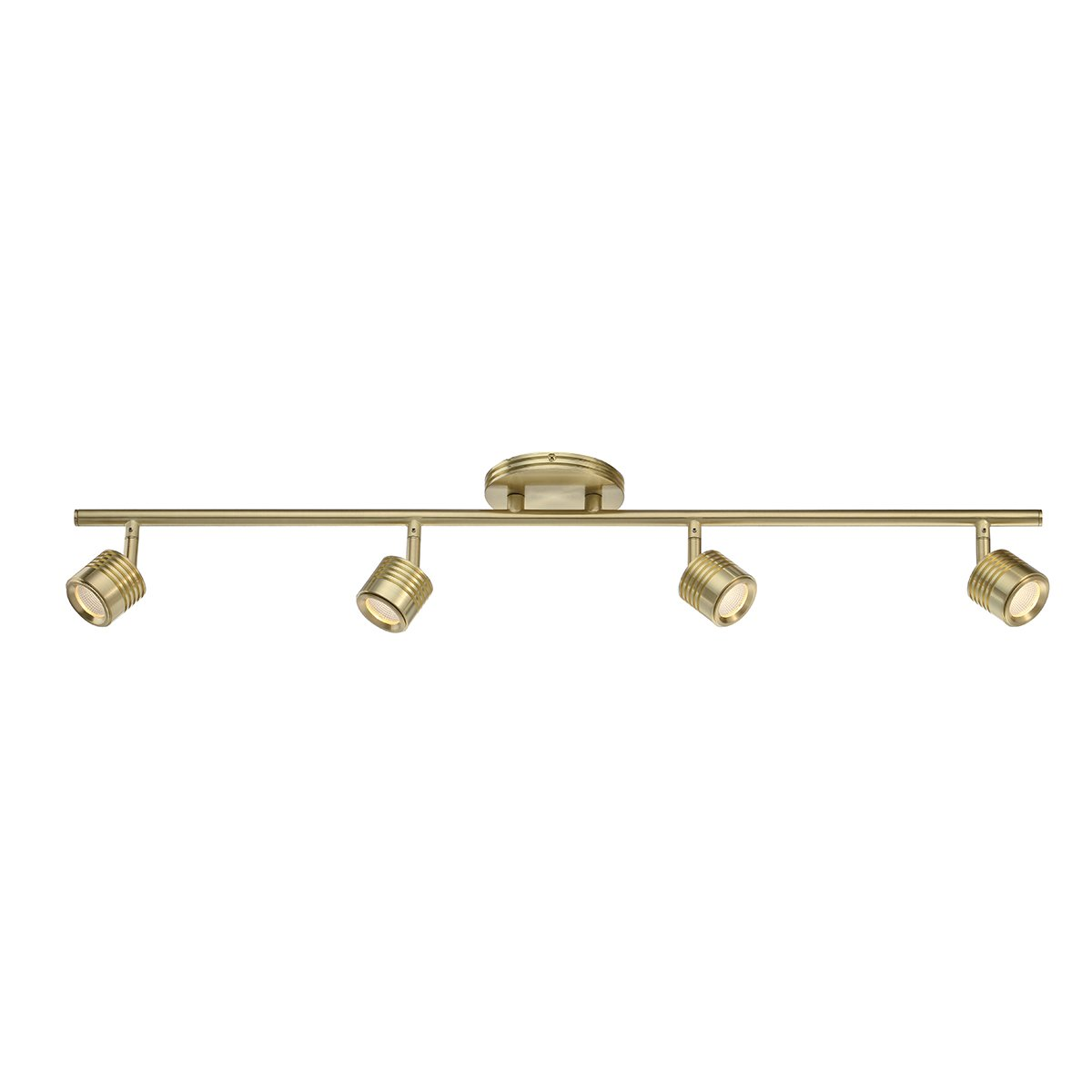 WAC Lighting TK-49534-BR Vector LED 4 Light Fixture Fixed Rail, One Size, Brushed Brass