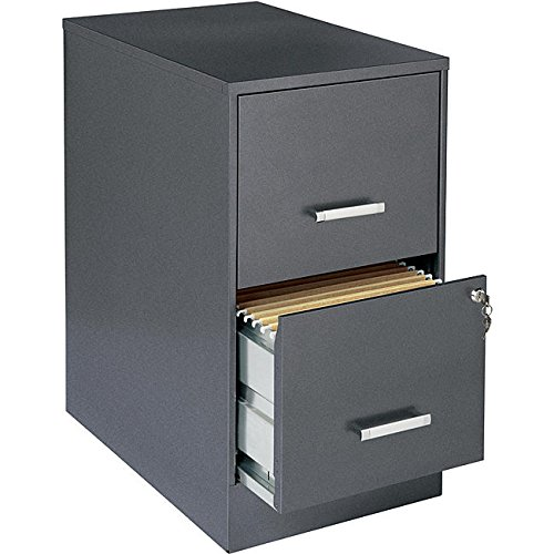 Office Designs Metallic Charcoal-colored 2-drawer Steel File Cabinet, Made From Steel For First Class Durability. by Office Designs