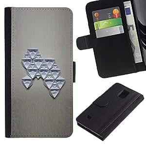 APlus Cases // Samsung Galaxy Note 4 SM-N910 // Moderno abstracto arte Estructura figura // Cuero PU Delgado caso Billetera cubierta Shell Armor Funda Case Cover Wallet Credit Card
