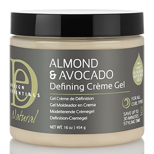 - Design Essentials Natural Defining Hair Crème Gel for Hold, Definition and Shine-Almond & Avocado Collection, 16oz.