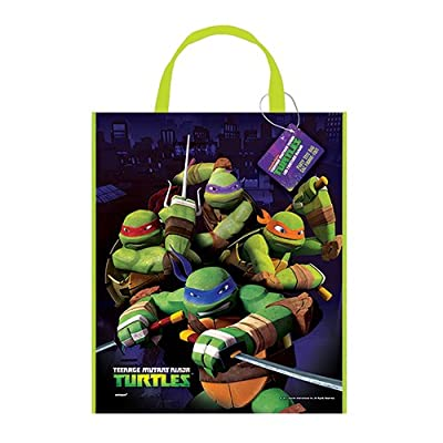 "Large Plastic Teenage Mutant Ninja Turtles Goodie Bag, 13"" x 11"": Toys & Games"