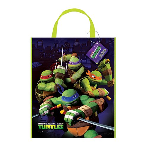 Large Plastic Teenage Mutant Ninja Turtles Goodie Bag, 13