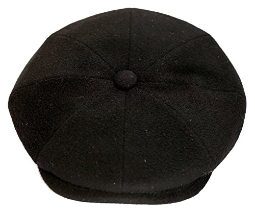 Levine Hat Cashmere 'Classico' 8-Panel newsboy Cap (XXLarge (Fits 7 3/4 To 7 7/8), Black) by Levine Hat (Image #2)