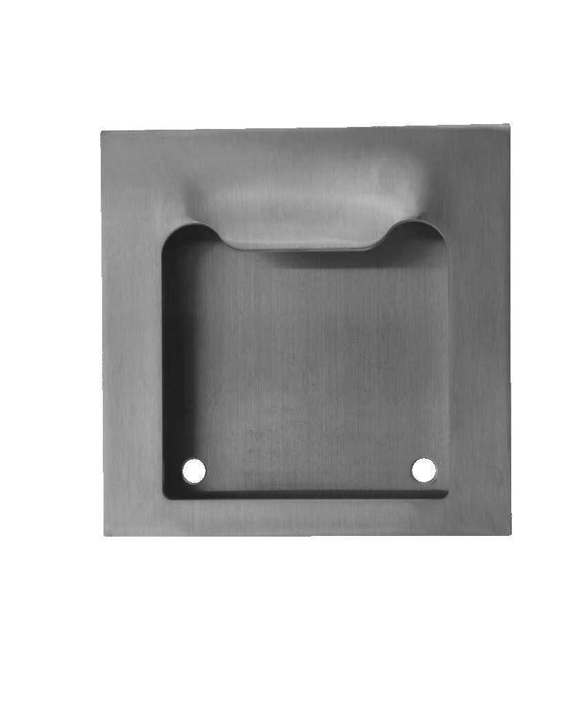 Don-Jo 1846 16 Gauge Stainless Steel Flush Cup Pull, Satin Stainless Steel Finish, 5'' Width x 5'' Height x 7/8'' Depth