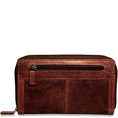 Jack Georges Voyager Large Zip-Around Leather Travel Wallet in Brown by Jack Georges (Image #4)