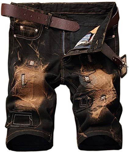 Retro Vélo Détresse Pantalon Fête En D'extérieur Court Lannister Délavé Jean Hommes Gelb D'été Vêtements Pour Fashion De Jeans a8nq1