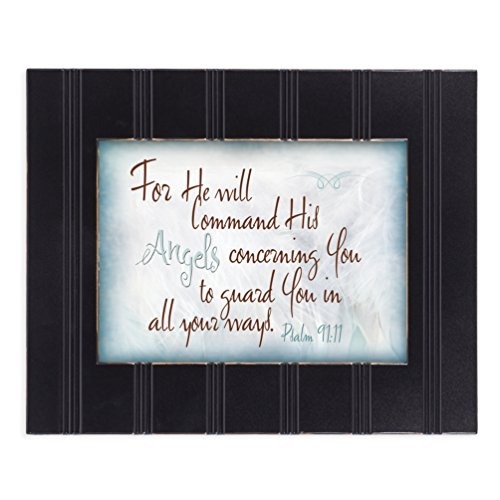 Angels Guard You Psalm 91:11 8x10 Black Framed Art Wall Plaque Sign
