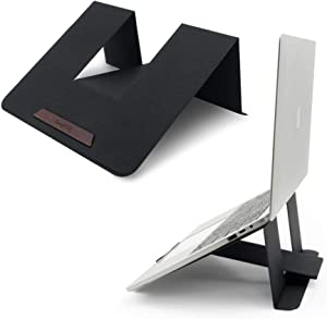 """SenseAGE Lift Up Foldable Laptop Stand, Higher Angle Laptop Stand, Anti-Slide & Portable Notebook Stand for Office Home, Compatible with MacBook Air/MacBook Pro, Tablets and Laptops up to 15"""", Black"""