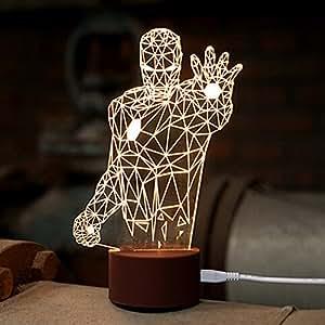 Amazon.com: WOMHOPE LED Art Sculpture Lights Up Night