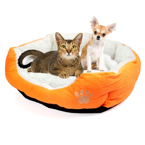 Amazon.com : New Orange Pet Dog Puppy Cat Soft Fleece Warm Bed House Plush Cozy Nest Mat Pad : Pet Supplies