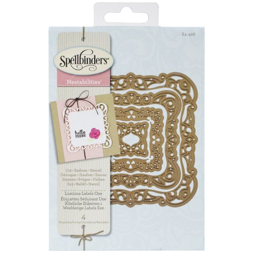 Spellbinders S4-426 Nestabilities Luscious Labels One Etched Dies