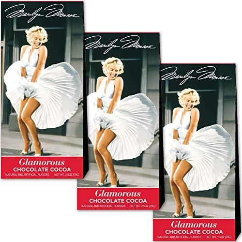 Monroe Chocolate - (Set/3) Marilyn Monroe Cocoa - 2.5 Oz Boxes Of Glamorous Hot Chocolate Drink