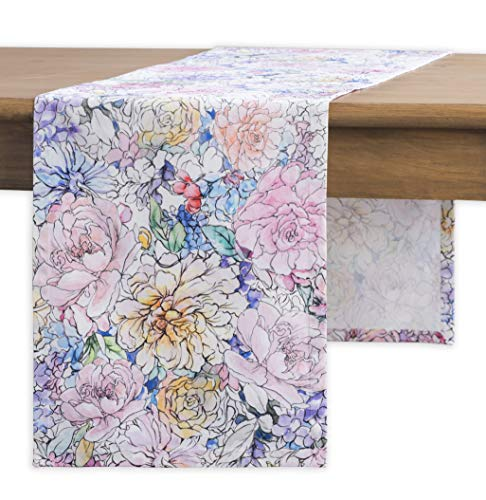 Maison d' Hermine Floral Love 100% Cotton Table Runner - Single Layer 14.5 Inch by 108 Inch]()